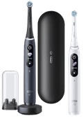 Oral-B iO - 8 - Electric Toothbrushes White And Black Duo Pack