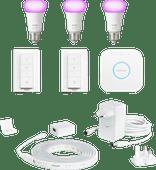 Philips Hue  Starter 3-Pack E27 + Lightstrip + 2 dimmers