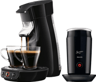 Philips Senseo Viva Café HD6563/60 Black + Milk Frother