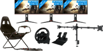 3x AOC 27G2U + NewStar FPMA-D550D3 + PlaySeat Challenge + Hori Apex Racing Wheel