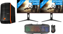 Budget Gaming Desktop + Dual Monitor set-up QWERTY