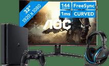 PlayStation gaming Monitor set-up