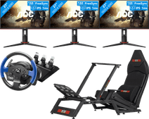 Luxe triple Monitor racing set-up