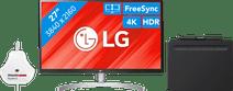 LG 27UL850 + Wacom Intuos S Bluetooth Zwart + Datacolor SpyderX Pro