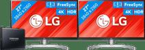 2x LG 27UL850 + 1TB Samsung Portable SSD