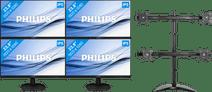 4x Philips 243V7QDAB + NewStar NM-D335D4
