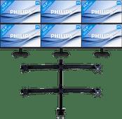 6x Philips 243V7QDAB + NewStar FPMA-D700D6