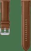 Samsung Galaxy Watch3 45 mm Leren Bandje Bruin 22 mm
