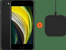 Apple iPhone SE 128 GB Zwart + ZENS Slim Line Draadloze Oplader