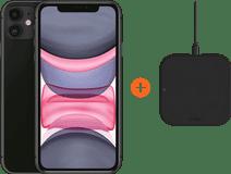 Apple iPhone 11 64 GB Zwart + ZENS Slim Line Draadloze Oplader