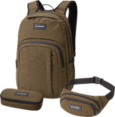 "Dakine Campus 15"" Dark Olive 25L + School Case + Hip Pack"