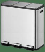 EKO EcoCasa II pedaalemmer 3x15L mat RVS