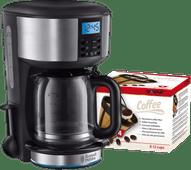 Russell Hobbs Buckingham Zilver Koffiezetapparaat +  Scanpart Permanent Filter