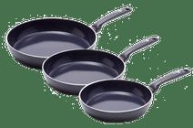 GreenPan Torino Frying Pan Set 3-Piece - 20cm + 24cm + 28cm