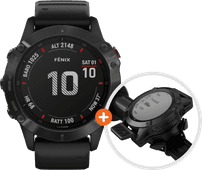 Garmin Fenix 6 Pro - Black - 47mm + Garmin Fenix 6 Quickfit Bike Mount