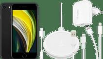 Apple iPhone SE 128 GB Zwart + Accessoirepakket Totaal