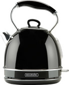 Nostalgic Water Kettle Deluxe Black 1.7L