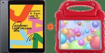 Apple iPad (2019) 128 GB Wifi Space Gray + Kinderhoes Rood