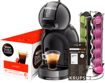 Krups Dolce Gusto Mini Me KP1208 Black + Descaling Kit + Capsules + Holder