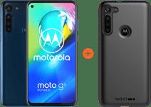 Motorola Moto G8 Power 64GB Blauw + Tech21 Studio Colour Back Cover Zwart