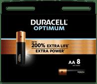 Duracell Alka Optimum AA-batterijen 8 stuks