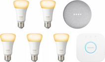 Google Nest Mini Philips Hue White Ambiance Starter 5-Pack
