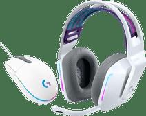 Logitech G733 LIGHTSPEED Wireless Gaming Headset White + Logitech G203 Gaming Mouse