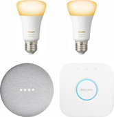 Google Nest Mini Philips Hue White Ambiance Starter Duo Pack