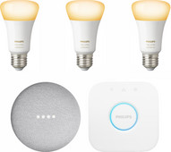 Google Nest Mini Philips Hue White Ambiance Starter 3-Pack