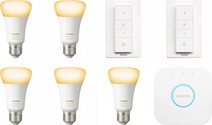 Philips Hue White Ambiance Starter 5-Pack E27 + 2 dimmers