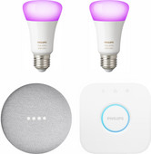 Google Nest Mini Philips Hue White & Color Starter Duo Pack