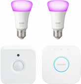 Philips Hue White & Color E27 Starter Duo Pack + Motion Sensor