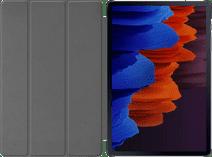 Just in Case Tri-Fold Samsung Galaxy Tab S7 Plus Book Case Zwart