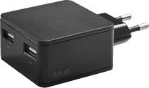 Azuri Charger without Cable 2 USB Ports 12W Black