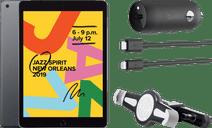 Apple iPad (2019) 128GB WiFi Space Gray + Headrest Car Mount + Car Charger