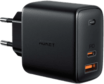 Aukey PA-B3 Oplader Zonder Kabel 2 Usb Poorten 65W Power Delivery