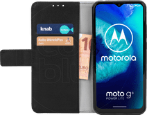 Just in Case Wallet Motorola Moto G8 Power Lite Book Case Zwart