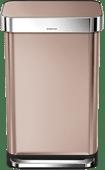 Simplehuman Rectangular Liner Pocket 45 liter Rosé Goud