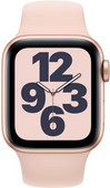 Apple Watch SE 40mm Gold Aluminum Pink Sand Sport Band