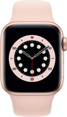 Apple Watch Series 6 40mm Goud Aluminium Roze Sportband