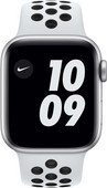 Apple Watch Nike Series 6 40mm Zilver Aluminium Witte Sportband