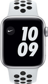 Apple Watch Nike SE 40mm Silver Aluminum White Sport Band