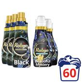 Robijn Klein & Krachtig Black Velvet Pack - 3x Detergent and 2x Fabric Softener