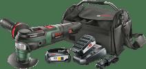 Bosch AdvancedMulti 18  + 18V 2,5 Ah Starterset + Gereedschapstas