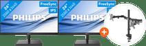 2x Philips 245E1S + NewStar FPMA-D550DBLACK