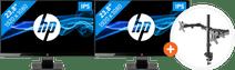 HP 24w + NewStar FPMA-D550DBLACK