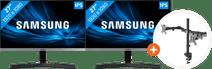 2x Samsung LS27R350FHU + NewStar FPMA-D550DBLACK