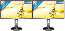 AOC Q2790PQE Dual Monitor Setup