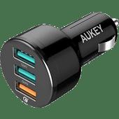 Aukey Quick Charge 3.0 Autolader Zonder Kabel 3 Usb A Poorten 18W Zwart