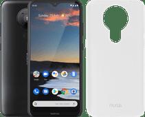 Nokia 5.3 64GB Zwart + Azuri TPU Nokia 5.3 Back Cover Transparant